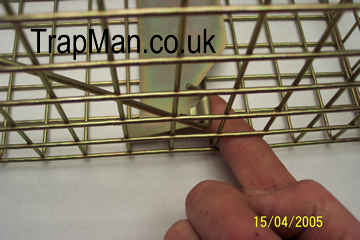 Pro gold squirrel trap treadle setting